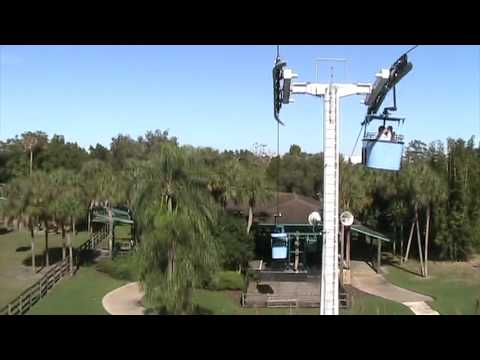 Skyride At Busch Gardens Africa Tampa Fl Youtube