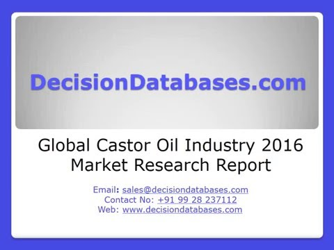 Global Castor Oil Market and Forecast Report 2016-2021