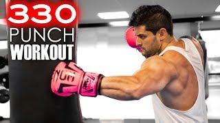 330 PUNCH WORKOUT CHALLENGE | Build MUSCLE - SPEED - POWER | Heavy Bag Combos