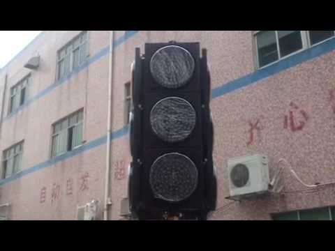 Fama traffic lights - Moveable Four-side LED Solar Traffic Light