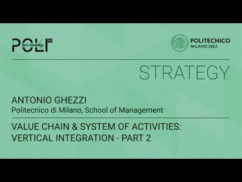 Value chain & system of activities: vertical integration - part 2 (Antonio Ghezzi)