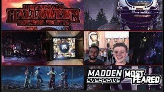 UNIVERSAL STUDIOS ORLANDO HALLOWEEN HORROR NIGHTS 2018 VLOG | MADDEN NFL OVERDRIVE MOST FEARED EVENT