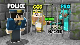 Minecraft Battle: ESCAPING FROM PRISON! NOOB vs PRO vs HACKER vs GOD in Minecraft Animation