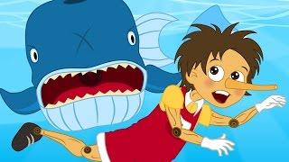 Pinocchio | 1 Conte + 4 comptines et chansons  - dessins animés en français
