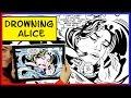 DROWNING ALICE - Alice in Wonderland / Lichtenstein inspired speed art