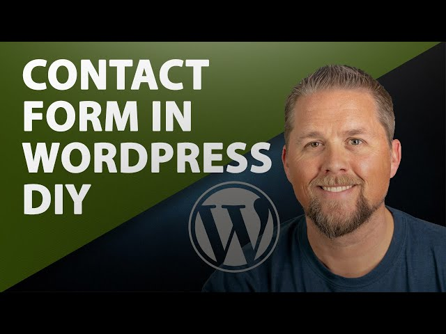 Contact Form Creation in WordPress - Create your own contact form as a simple plugin