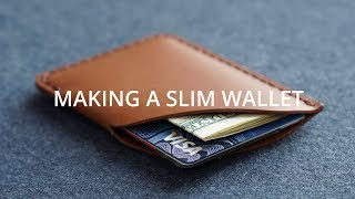 Making a Slim Leather Card Wallet // DIY Leather craft