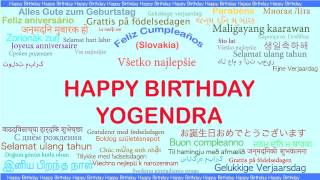 Yogendra   Languages Idiomas - Happy Birthday