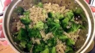 Broccoli and Pasta Alfredo- Healthy Recipe//GF and Vegan