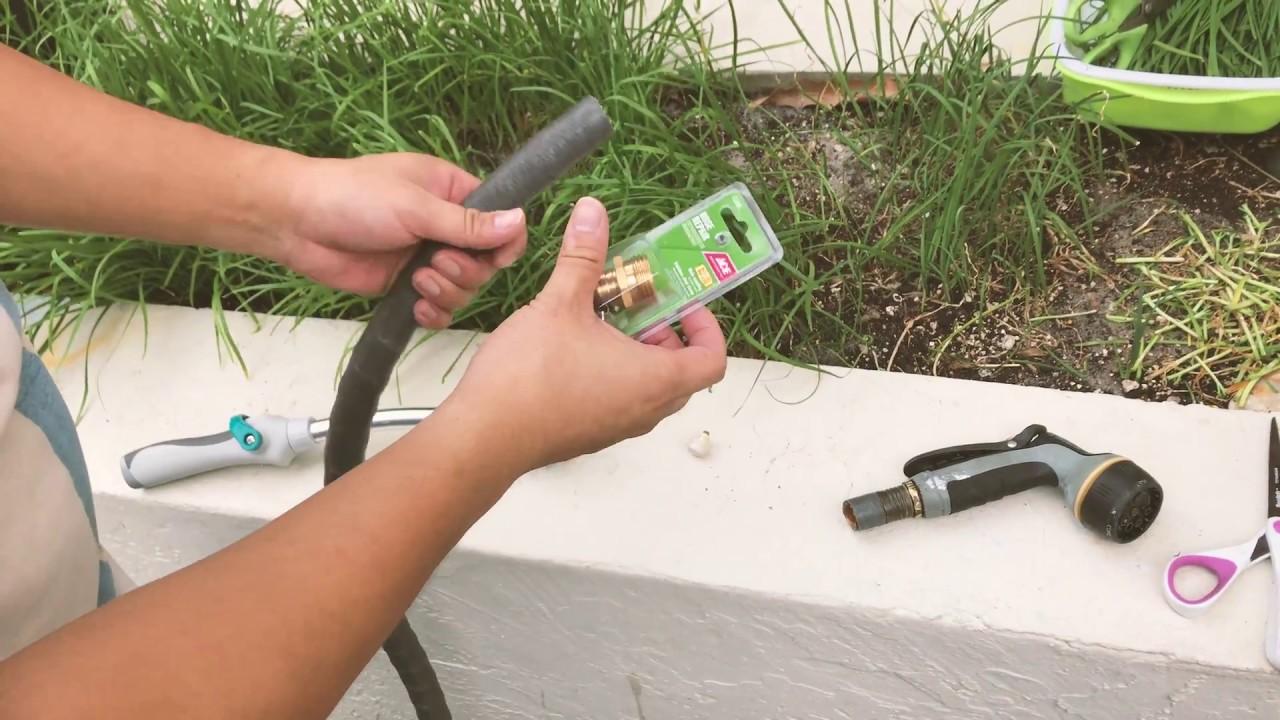 Super Easy Garden Hose Repair How To Replace Broken Garden Hose Connectors Youtube