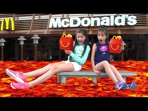 Thumbnail: The Floor is LAVA Challenge at McDonald's! 😀😂 Kids Pretend Playtime Family Fun