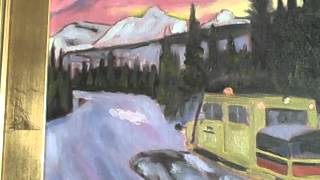 Wildly Colorful Tucker Sno-Cat Snowcat Painting