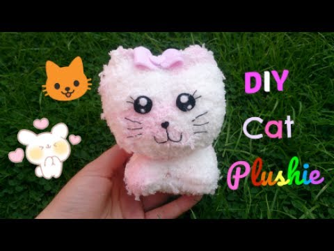 9c17635b0 How To Make A DIY Cat Plushie With 1 sock!!😻. Cute Craft