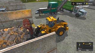 Farming Simulator 17 Timelapse #1 Biggest Woodchips Ever !!