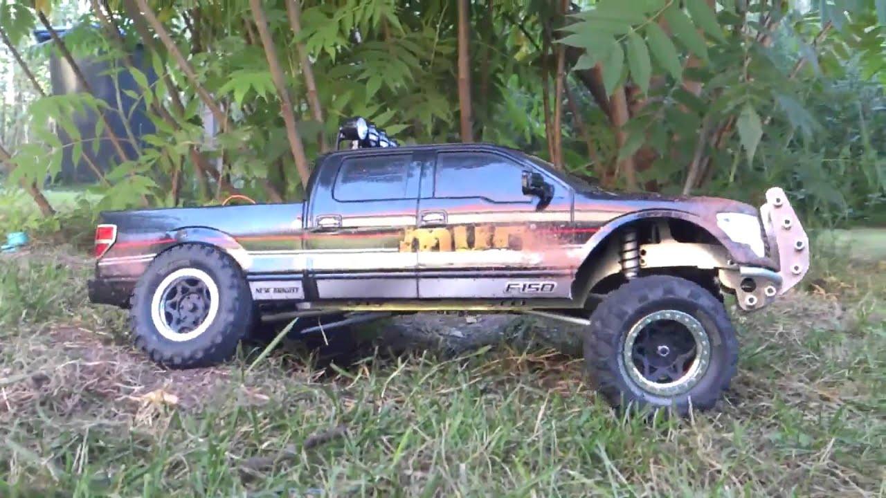 Teil 1 custom rc ford f150 xlt 4x4 supercrew rc trial scaler crawler fender flares youtube