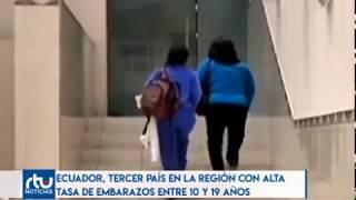 Ecuador es el tercer país con alta tasa de embarazo