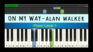 not piano on my way alan walker - melodi piano tingkat 1 - instrumen
