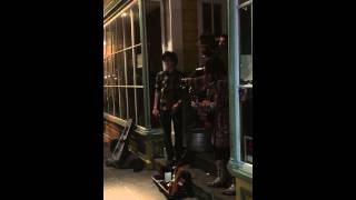 Folk Indie Musicians playing off Frenchmen St. in New Orleans