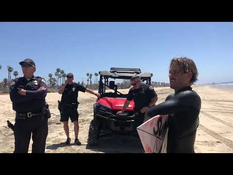 SURFING IS NOT A CRIME, Huntington Beach May 4 2020