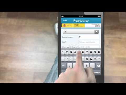 Manual de uso de las apps para móviles de la Seguridad Social