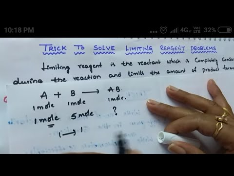 Trick to solve limiting reagent problems easily