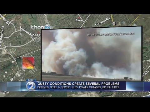 Firefighters contain 100-acre brush fire in Kalaeloa fueled by strong winds