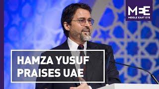 """Islamic scholar Hamza Yusuf criticised for calling UAE """"tolerant"""""""