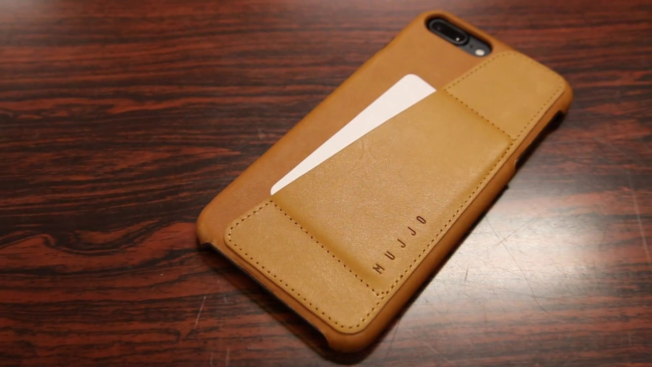 official photos 1b548 5c0c0 Slim Wallet Case! - Mujjo Leather Wallet Case iPhone 7 & 7 PLUS - Review /  Demo