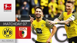 8th straight home win for BVB Borussia Dortmund FC Augsburg 2 1 All Goals MD 7 Bundesliga