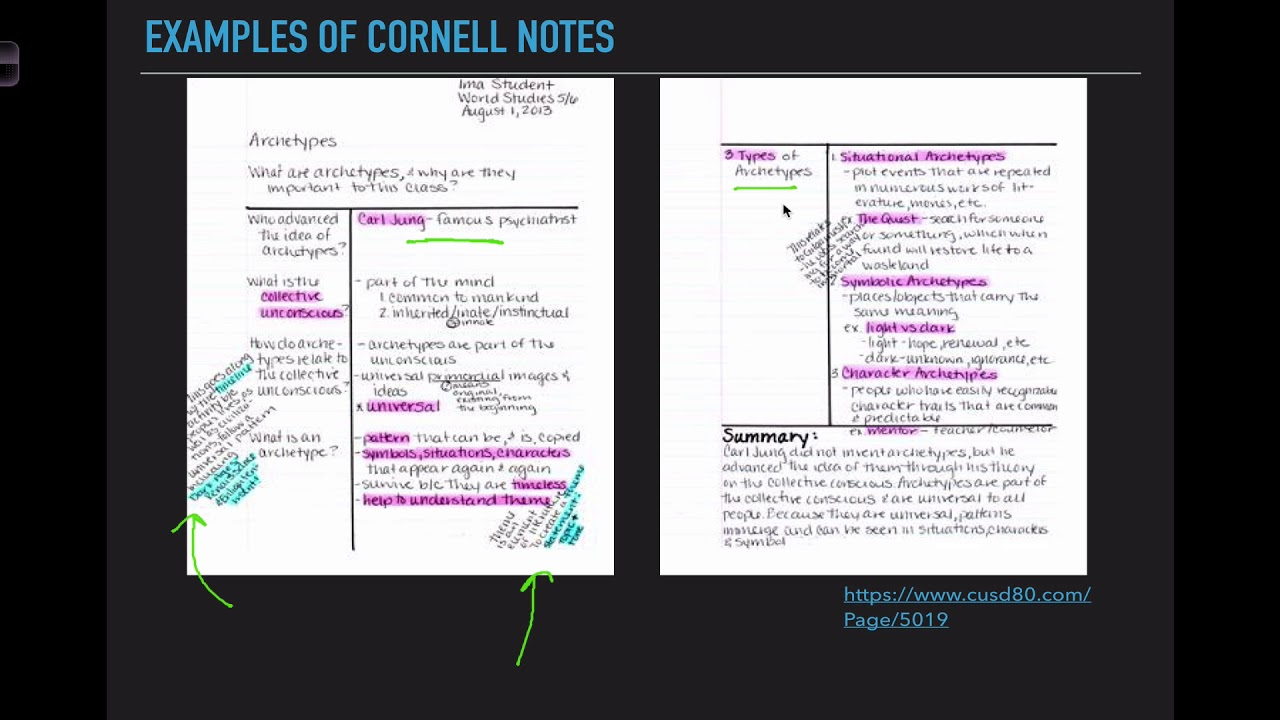 Cornell Notes Youtube