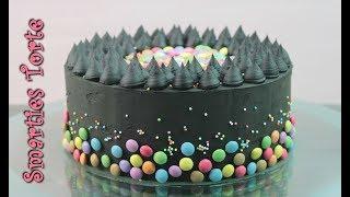 SMARTIES TORTE BACKEN | schwarze Torte ohne Fondant [Geburtstagstorte selber machen]