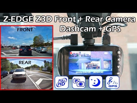 Z-EDGE Z3D Front & Rear HD Camera Dashcam