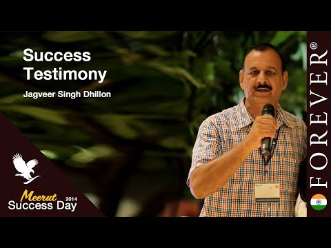 Business Testimony by Jagveer Singh Dhillon at Meerut Success Day