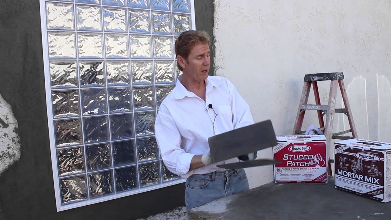 Rapid Set Stucco Patch Just An Explanation Use Stucco Patch Mortar Mix Sets Too Fast Youtube