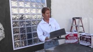 Rapid set stucco patch, just an explanation, use stucco patch, mortar mix sets too fast