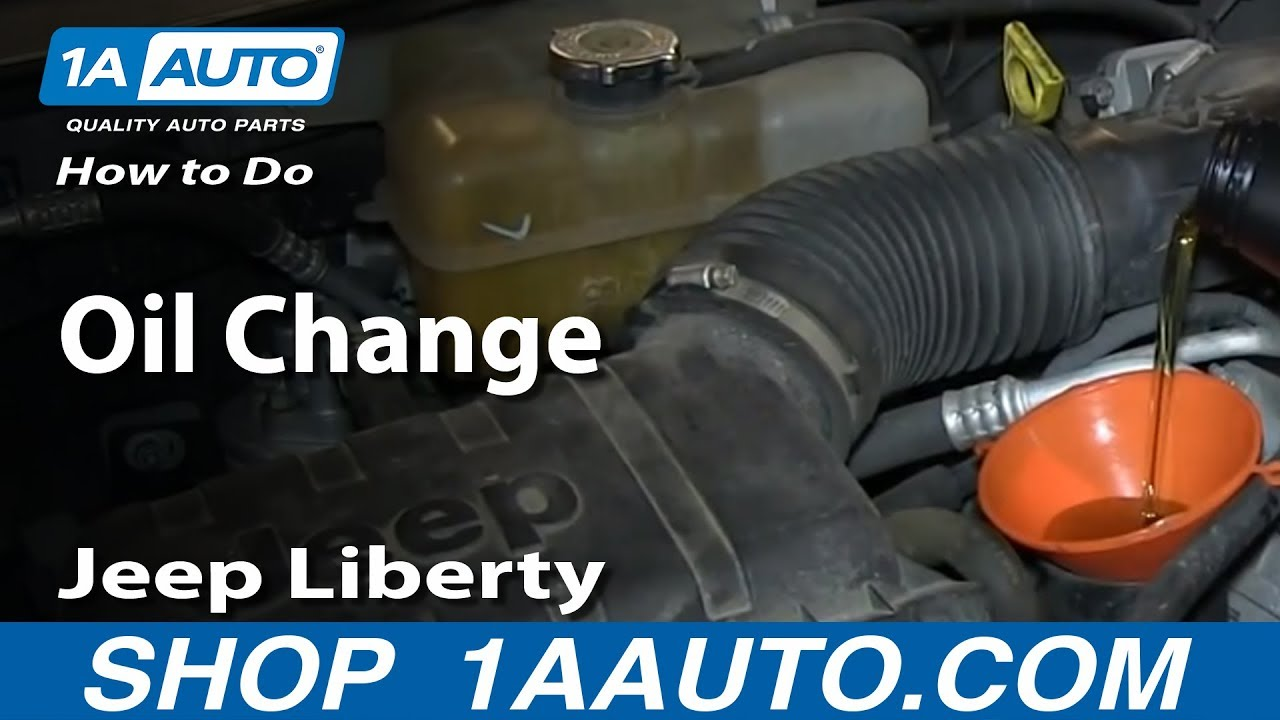 2003 Jeep Wrangler Fuel Filter Location How To Do An Oil Change 2002 13 Jeep Liberty Youtube