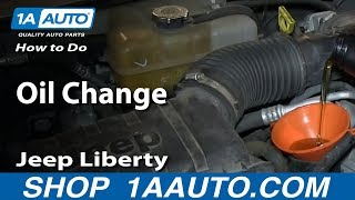 How To Do an Oil Change 2002-13 Jeep Liberty