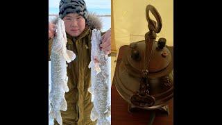 Рыбалка на жерлицы готовим ребрышки барашка в Афганском казане Рыбалка в Казахстане Рыбалка в Астане
