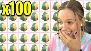 Unboxing 100 FOSSIL EGGS in Adopt Me! *35,000 ROBUX* (Roblox)