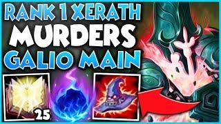 #1 XERATH WORLD MURDERS GALIO ONE-TRICK (IN CHALLENGER) - League of Legends