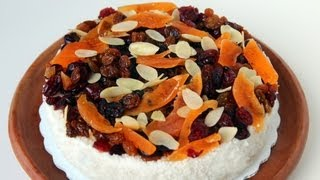 White steamed rice cake