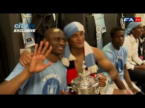 Manchester City dressing room post match   FA Cup final - Manchester City vs Stoke 14-05-11