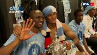 Manchester City dressing room post match | FA Cup final - Manchester City vs Stoke 14-05-11