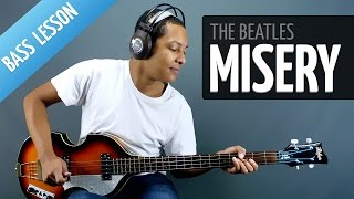 Misery (Bass Lesson - The Beatles) - Lesson for Beginners
