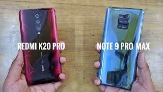 Redmi K20 Pro vs Redmi Note 9 Pro Max Speed Test Comparison   Shocking Results! 😮