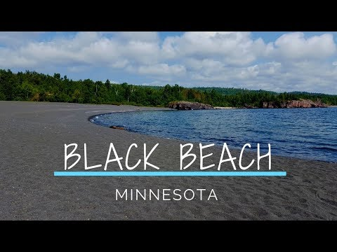 MUST SEE BLACK BEACH IN MINNESOTA!