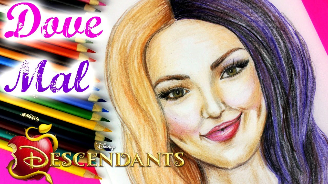 disney descendants mal and dove cameron step by step