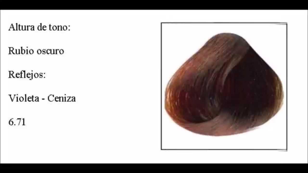 Carta de colores para tinte de pelo