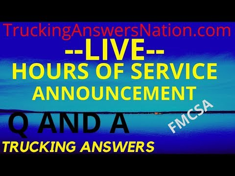 🔴 Q And A Live   Hours Of Service Changes   Announcement Delayed    Trucking Answers