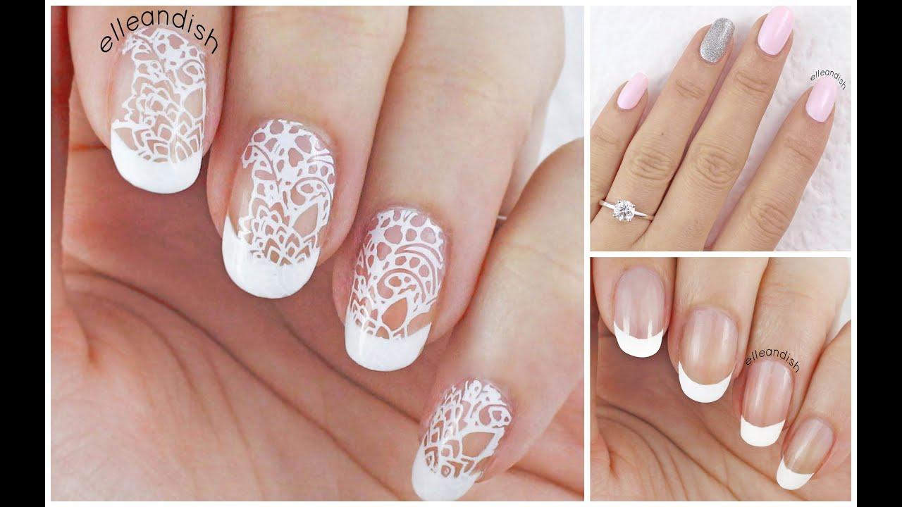 Wedding Nails (3 Ways!) ...Help me choose my wedding day ...